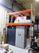 (2) 2 Door Cabinets & 1 Section Pallet Racking