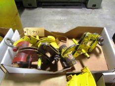 (3) M & W 1,000lb Capacity Material Lifters