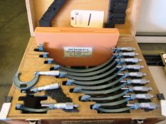 Mitutoyo 0'' - 12'' Micrometer Set with Standards