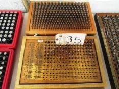 (2) Sets of 0.061 - 0.500 Pin Gauges