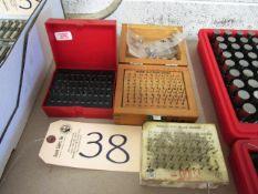 (3) Sets of 0.011 - 0.060 Pin Gauges