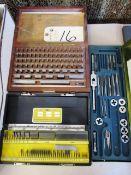 (2) Block Gauge Sets & Tap & Die Set