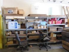 (3) Racks with Shipping Supplies