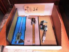 (2) Mitutoyo 6'' Digital Vernier Calipers & (1) Mitutoyo 0'' - 1'' Digital Micrometer