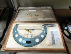 Mitutoyo 7'' - 8'' Standard Micrometer
