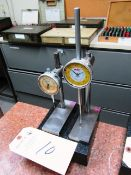 (2) Dial Indicators with Granite Base Stands