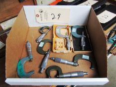 Assorted Mitutoyo Micrometers
