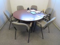 Round Table & (6) Chairs