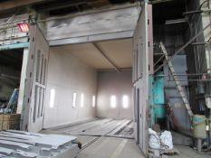 Clemco 14'W x 27' L x 16' H Classic 150 Grit Sandblast Blast Room