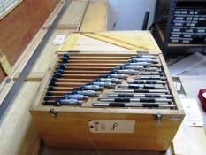 0'' - 12'' Standard Outside Micrometer Set