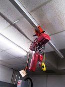 Dayton 800lb Capacity Electric Hoist with Pendant Control