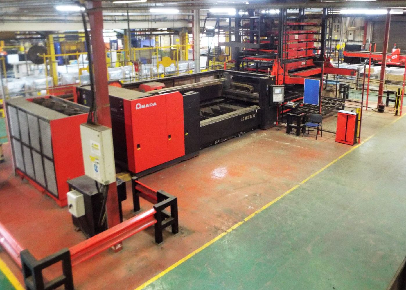 Amada Laser Cutting Centres, ITW Gema Powder Coating Application System, Robotic Mig Welding Cells & Other Metalworking Assets.