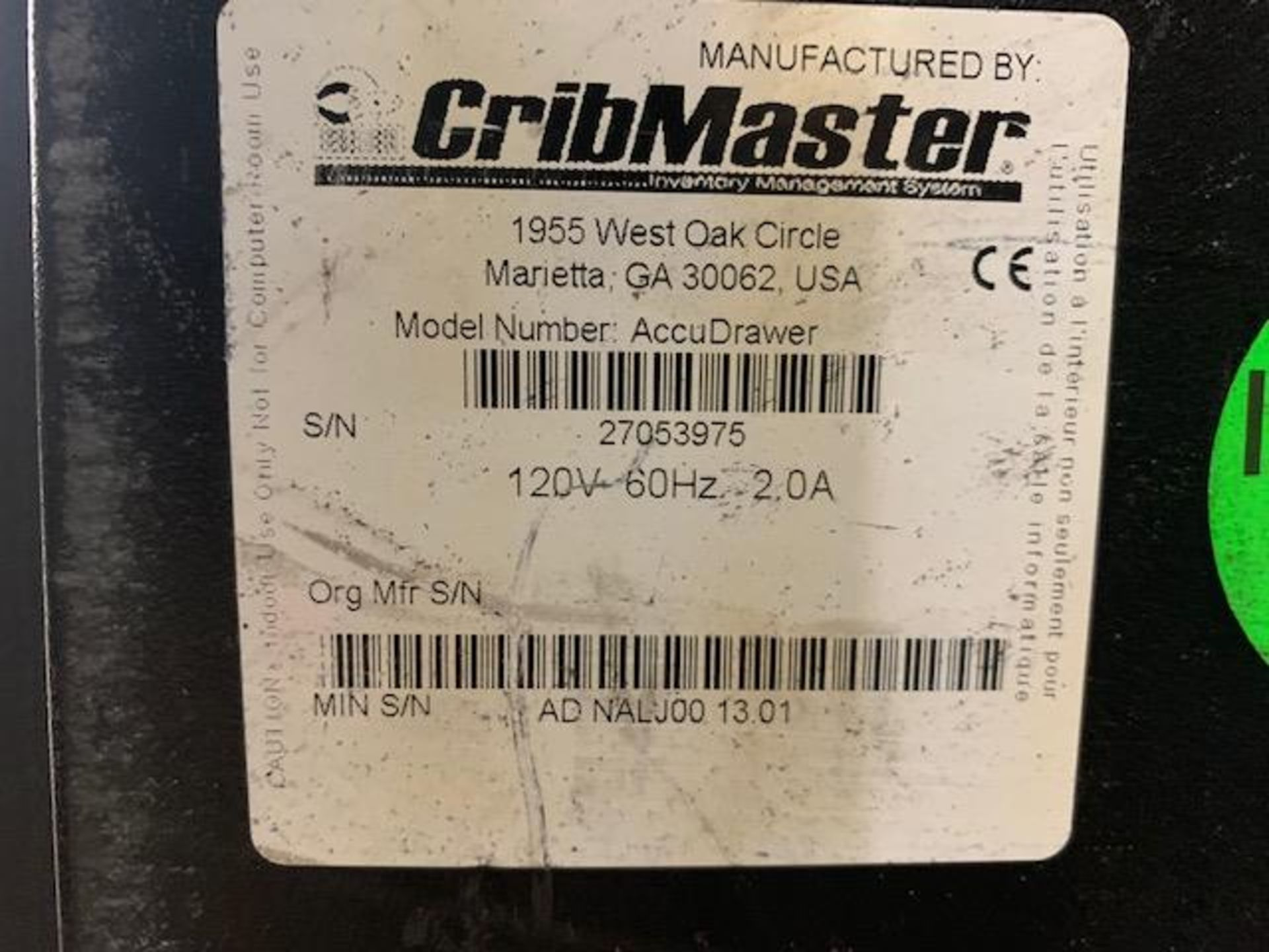 Cribmaster AccuDrawer - Image 2 of 10