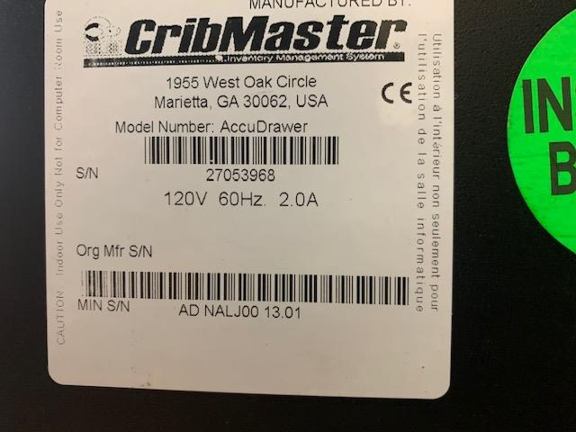 Cribmaster AccuDrawer - Image 2 of 8