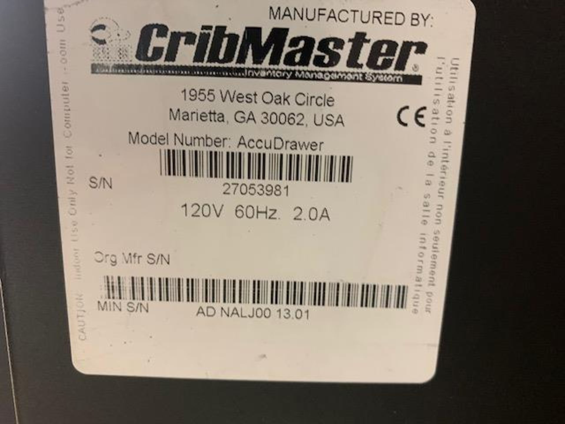 Cribmaster AccuDrawer - Image 2 of 9