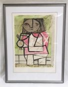 "A framed limited edition lithograph entitled ""Enfant en Pied"" by Pablo Picasso, numbered 326 of"