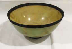 A studio pottery large bowl by David McComiskey - height 20cm, diameter 39cm