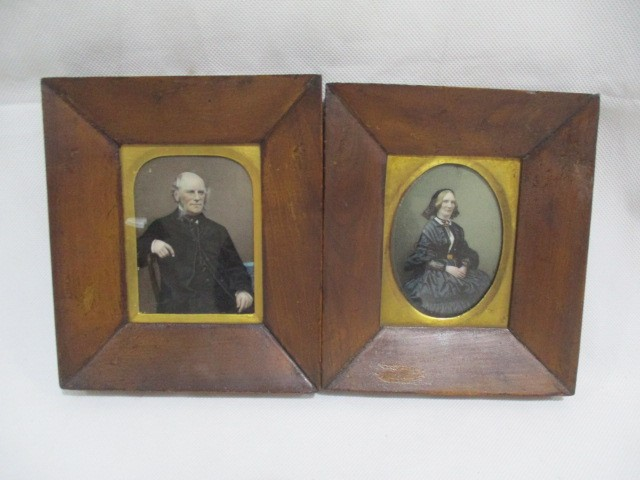 "A pair of Victorian miniatures, annotation to reverse ""Hong Kong, December 1861"""