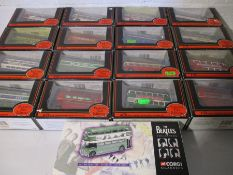 A collection of sixteen Gilbow 1:76 scale die cast buses from the exclusive first edition