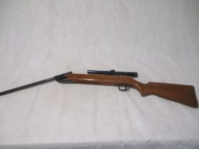 """An """"Original"""" .22 cal air rifle (serial number 792437), marked """"Made in Germany"""", with attached"""