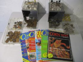 A collection of various coinage etc.