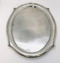 An oval hallmarked silver salver, Chester 1924, weight 353g