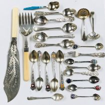 A collection of silver and other cutlery, total weight of silver 272g