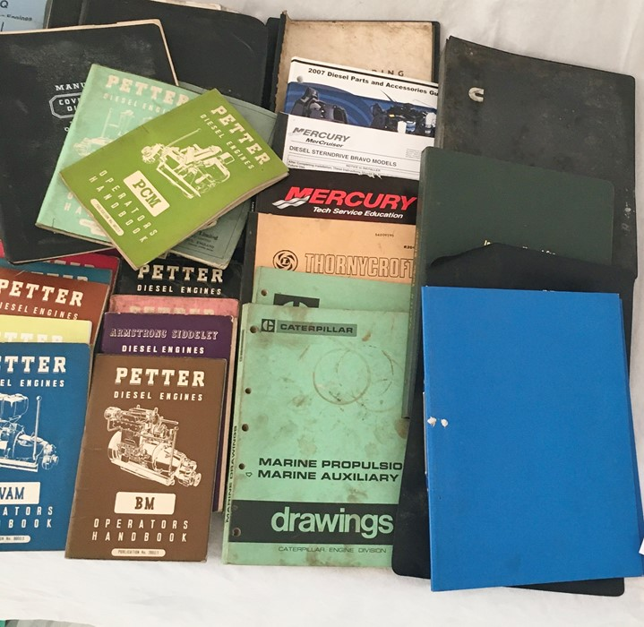 A collection of vintage manuals and other engineering literature including Perkins, Petter, - Image 3 of 3