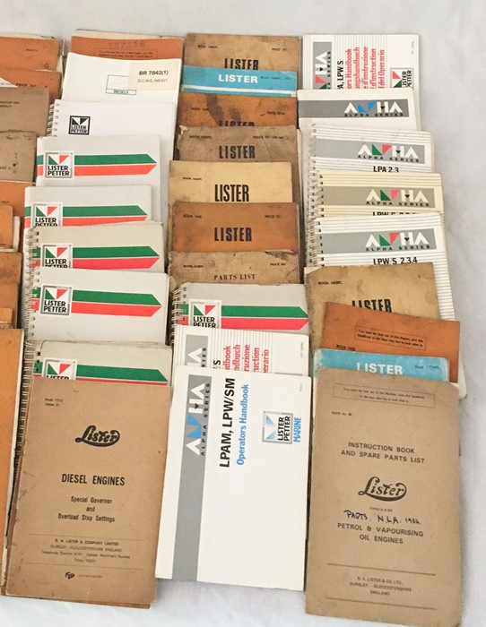 A large collection of various Lister manuals and engineering literature both vintage and more recent - Image 5 of 7