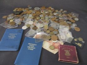 A collection of various English coinage