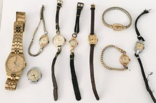 A collection of vintage watches