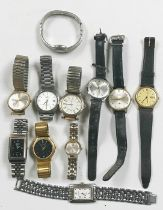A collection of various watches including Mondaine, MuDu, Timex, Regency etc.