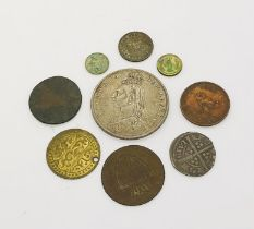 An Edward III hammered silver groat, 1887, Victorian half crown, along with a small amount of