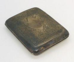 A hallmarked silver cigarette case, weight 88.8g