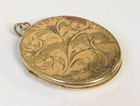 A 9 ct gold locket, total weight 12.7g