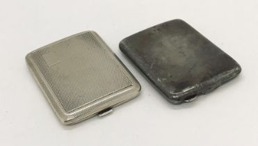 Two hallmarked silver matchbook cases, total weight 75.1g