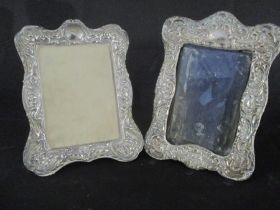 Two hallmarked silver photo frames
