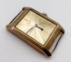 "A 9 ct rose gold ""Flica"" gentleman's watch"