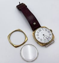 """A """"Cudos"""" 18ct gold gentleman's watch with subsidiary second hand A/F"""