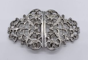 A hallmarked silver nurses buckle