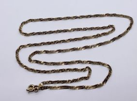 A 9 ct gold necklace,weight 4.1g