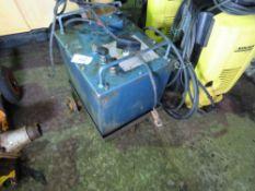 OIL FILLED ARC WELDER ON TROLLEY.