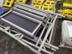 PALLET OF SCAFFOLD TOWER PARTS.