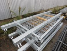 PAIR OF EUROP GALVANISED GATES WITH POSTS. 2420 HEIGHT X 2600MM TOTAL WIDTH APPROX. (PALLET B)
