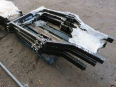 4 X COMPACT TRACTOR FOLDING ROLL FRAMES, UNUSED.