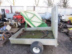 SMALL SIZED TRAILER FOR MOWER ETC. BED SIZE 6FT X 4FT APPROX.