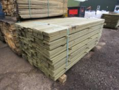 PACK OF TREATED TIMBER CLADDING BOARDS 1.75M X 10CM APPROX.