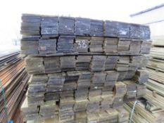 LARGE PACK OF TREATED FEATHER EDGE FENCE CLADDING TIMBERS 1.8M X 10CM APPROX.