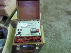 MEGIT 3-2 BATTERY POWER UNIT AND A CLARE TESTER. SOURCED FROM DEPOT CLEARANCE DUE TO A CHANGE IN COM