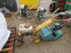 PETROL ROTORVATOR PLUS A CYLINDER MOWER.